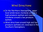 wind directions