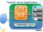 typical azure application