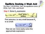 equilibria involving a weak acid13