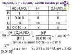 hc 2 h 4 no 2 h c 2 h 4 no 2 c 0 01m calculate ph and ka
