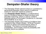 dempster shafer theory