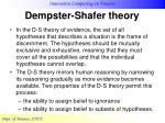 dempster shafer theory20