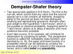 dempster shafer theory21