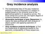 grey incidence analysis