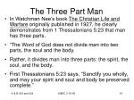 the three part man19