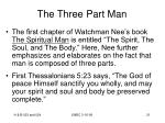 the three part man21