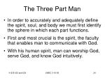 the three part man24