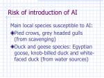 risk of introduction of ai4