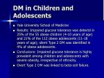 dm in children and adolescents13