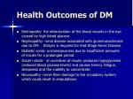 health outcomes of dm