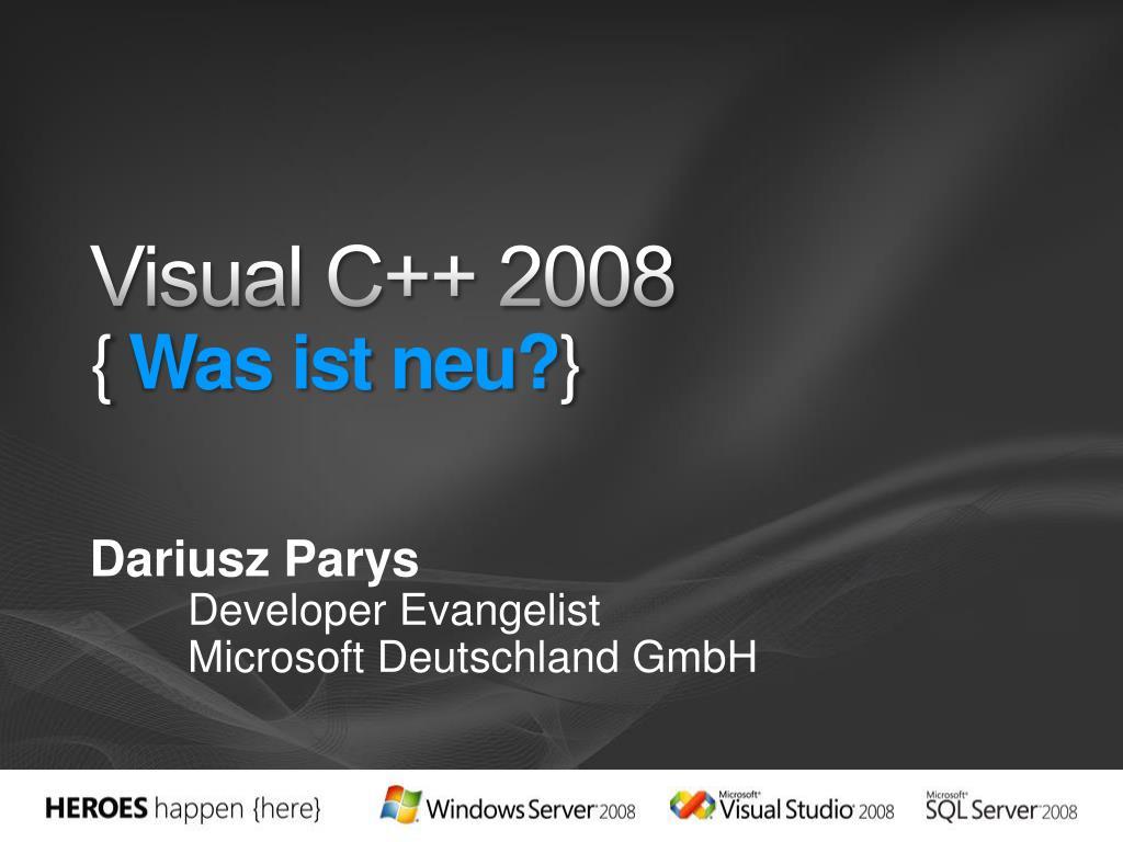 visual c 2008 was ist neu l.