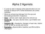 alpha 2 agonists