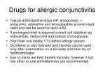 drugs for allergic conjunctivitis
