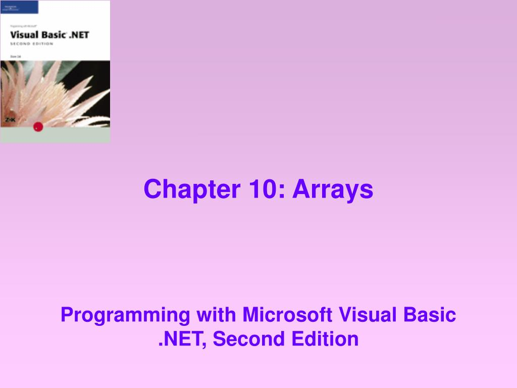 chapter 10 arrays l.