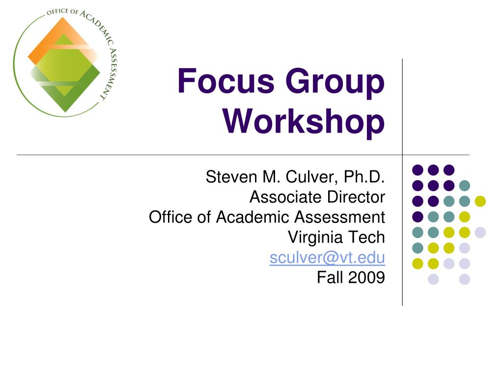 focus group workshop l.