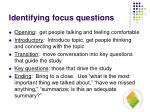 identifying focus questions