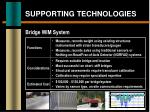 supporting technologies8