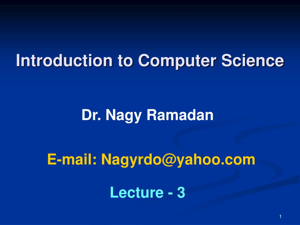 introduction to computer science l.