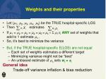 weights and their properties