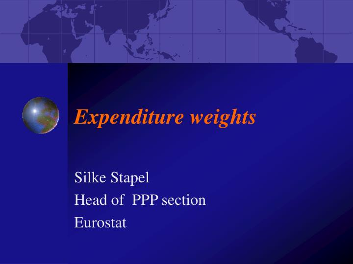 expenditure weights n.