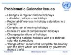 problematic calendar issues
