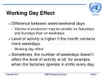 working day effect