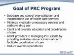 goal of prc program
