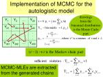 implementation of mcmc for the autologistic model