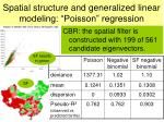 spatial structure and generalized linear modeling poisson regression