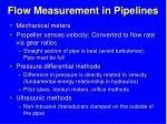 flow measurement in pipelines