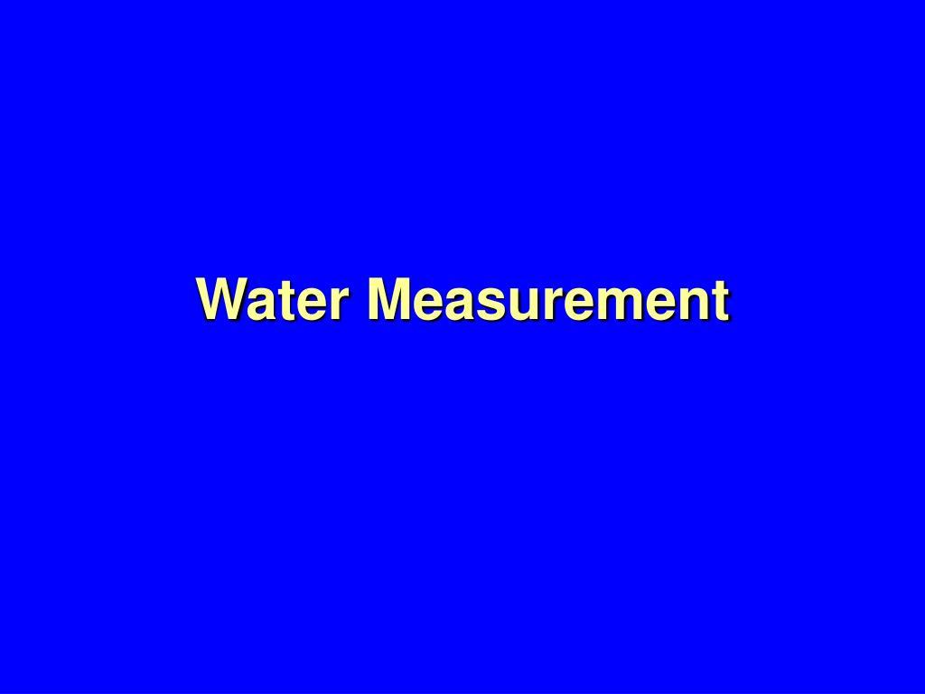 water measurement l.