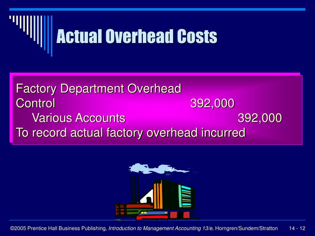 Actual Overhead Costs