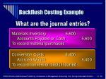 backflush costing example50