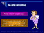backflush costing