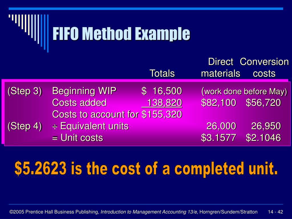FIFO Method Example