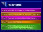 five key steps