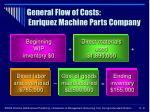 general flow of costs enriquez machine parts company8