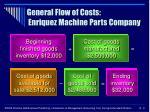 general flow of costs enriquez machine parts company9