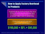 how to apply factory overhead to products16