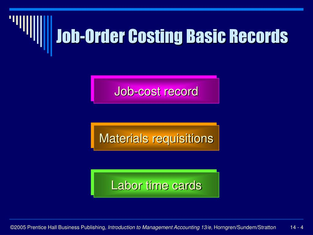 Job-Order Costing Basic Records