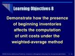 learning objectives 8
