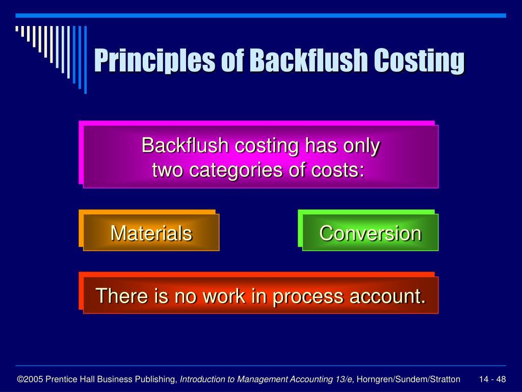 Principles of Backflush Costing