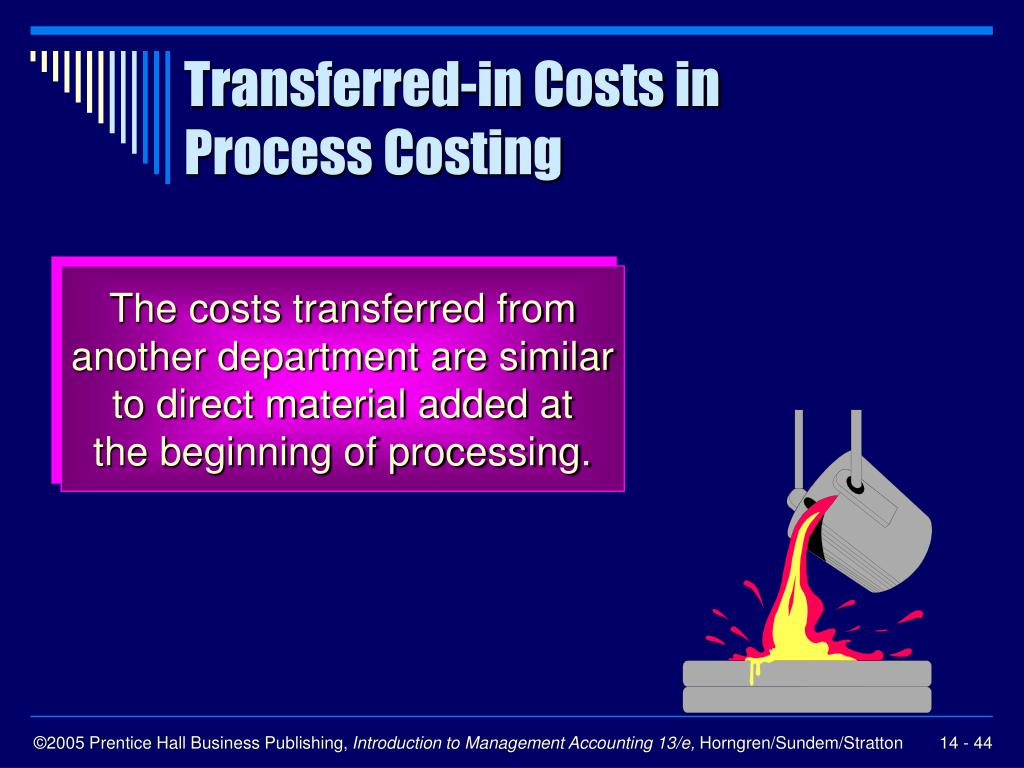Transferred-in Costs in