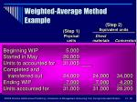 weighted average method example38