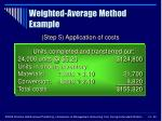 weighted average method example40