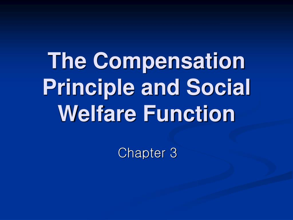 the compensation principle and social welfare function l.