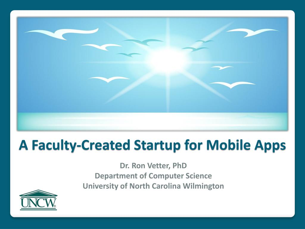 a faculty created startup for mobile apps l.