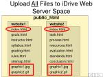upload all files to idrive web server space