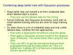 combining deep belief nets with gaussian processes