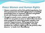 peace women and human rights